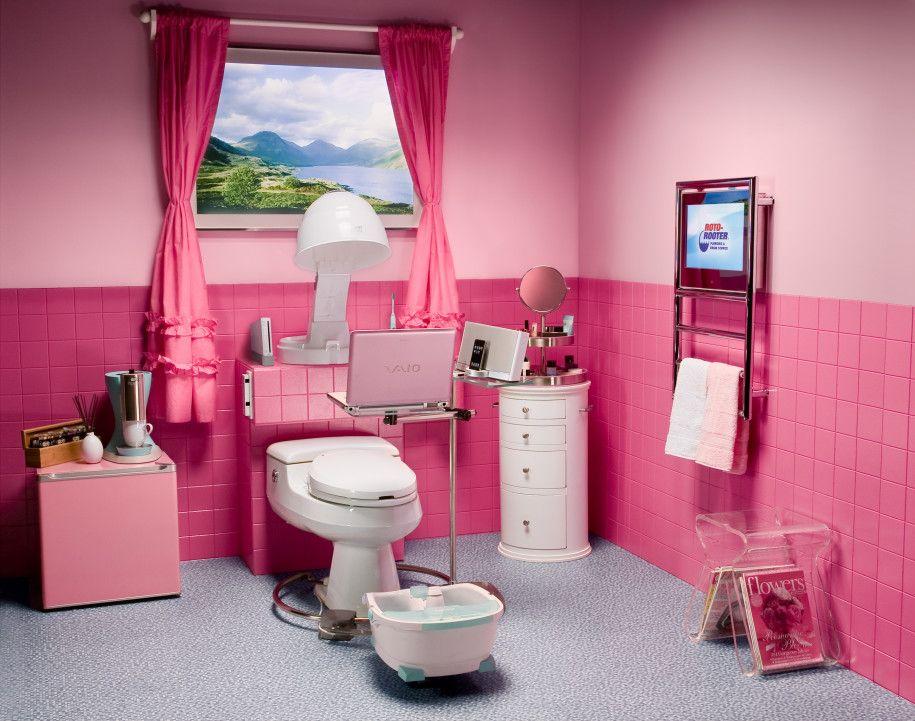 terrific pink bathroom color idea | Beautiful Pink Teenage Bathroom Design by Aquaplus : Girls ...