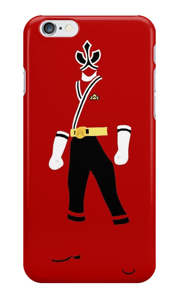 huge selection of 99a33 14f81 Power Rangers Samurai Red Ranger iPhone Case | Electronics and ...