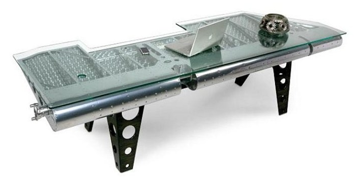 Coffee Table From Airplane Parts Aviation Furniture Industrial