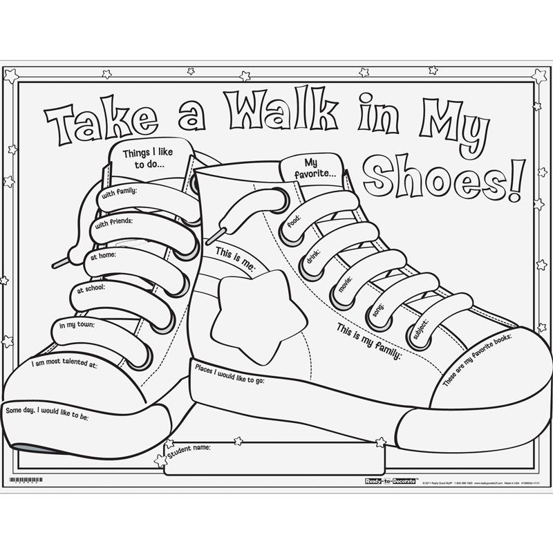 Ready-To-Decorate™ Take A Walk In My Shoes! Posters