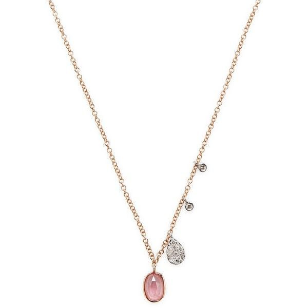 Meira t womens rose gold sapphire diamond necklace pink 275 meira t womens rose gold sapphire diamond necklace pink 275 aloadofball Choice Image
