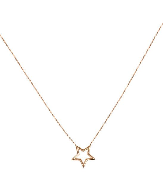 Rose Gold Wire Star Necklace, Kismet. Shop the latest fine jewellery from the Kismet collection online at Liberty.co.uk