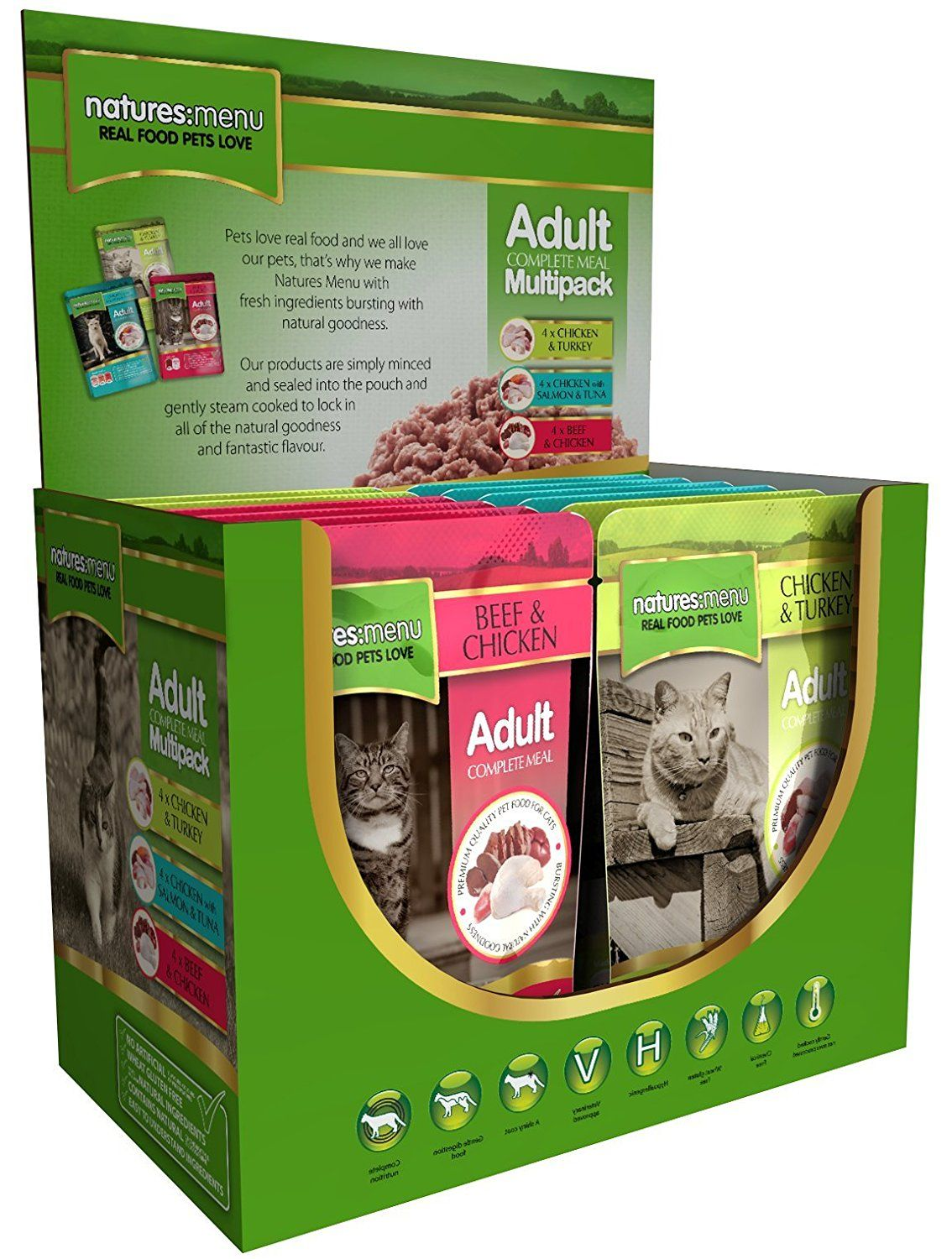 Natures Menu Cat Multi 12 Pack of Food Chicken and