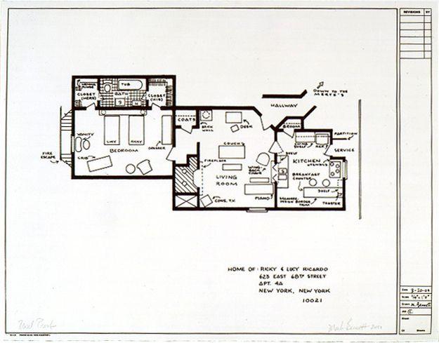 15 Floor Plans Of Tv S Best Homes I Love Lucy Floor Plans How To Plan
