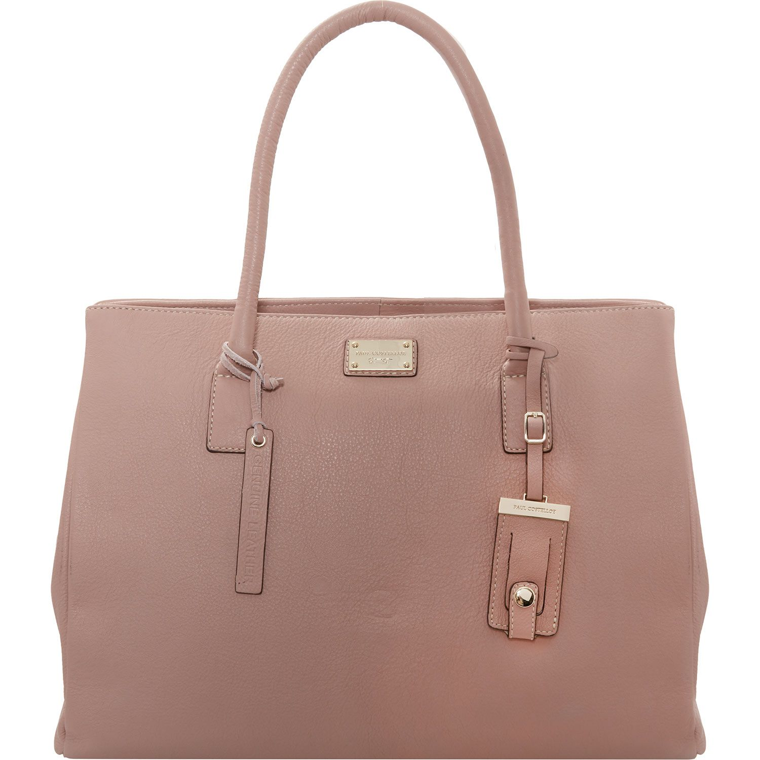 Paul Costelloe Dusky Pink Leather Tote Bag Tk Ma