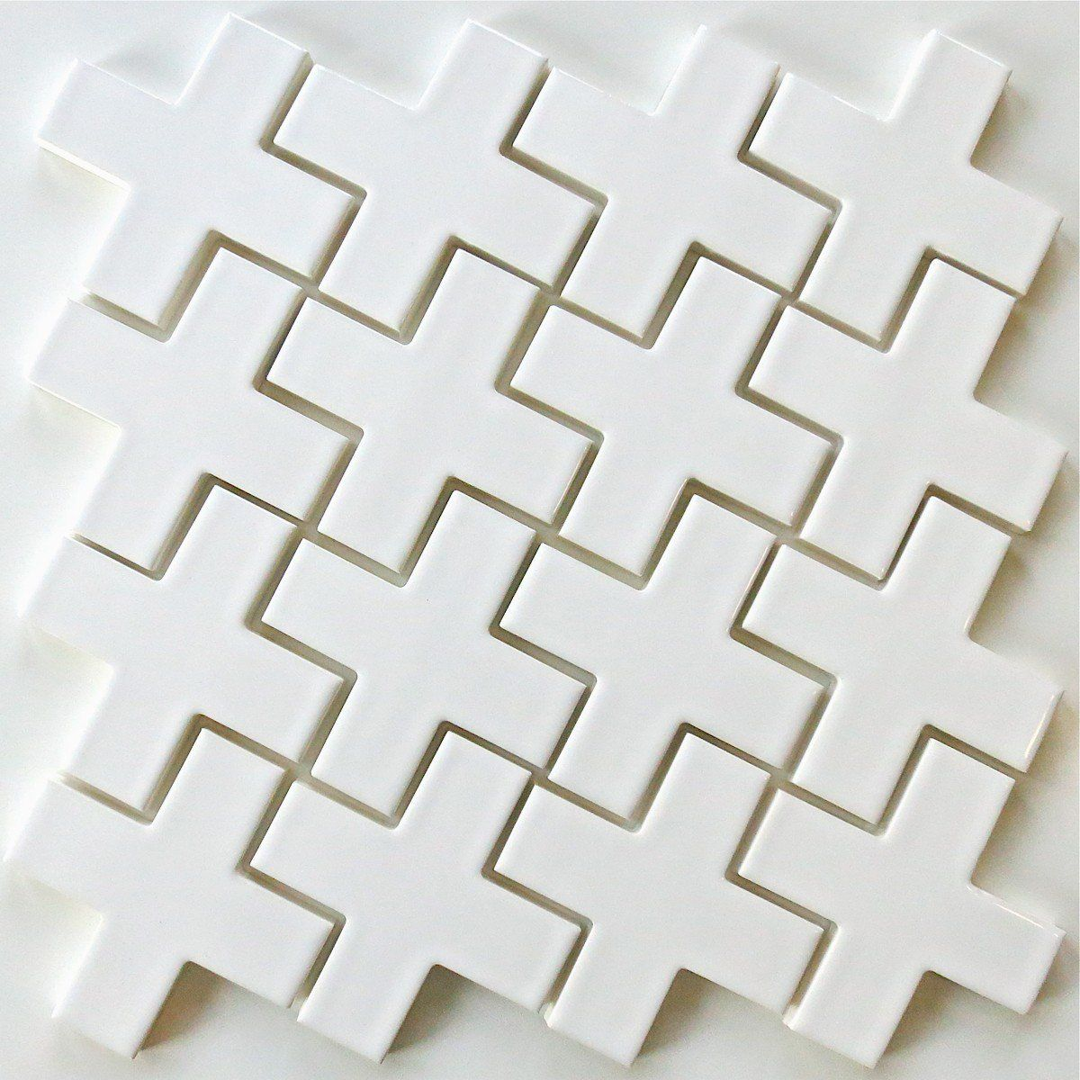 Kiln Ceramic X Tile Milk White Mosaic Tile Our X Tile 4 Kiln
