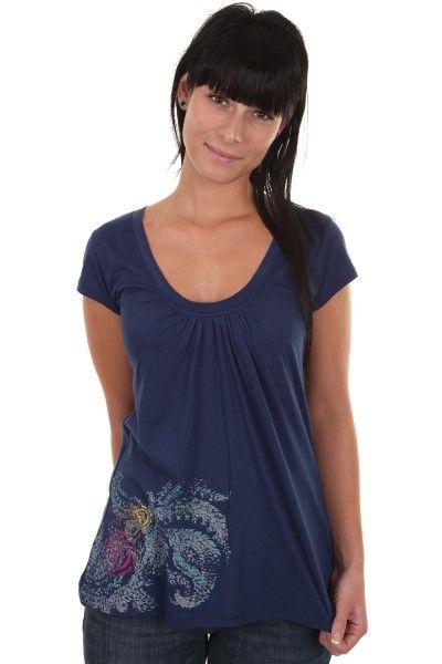 Element Paisley T-Shirt girls (deep blue) - skatedeluxe Skateshop - Skateboards Longboards Schuhe Streetwear Snowboards