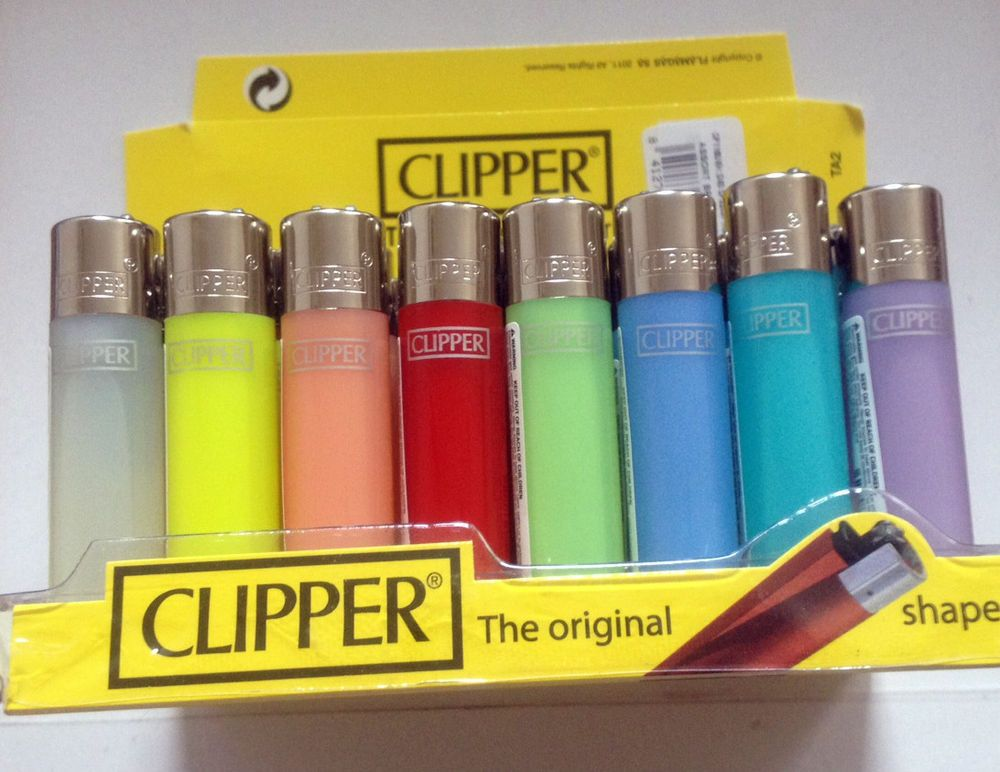 4 x MINI MICRO Small PASTEL COLOUR CLIPPER LIGHTER Flint Gas Refillable Lighters