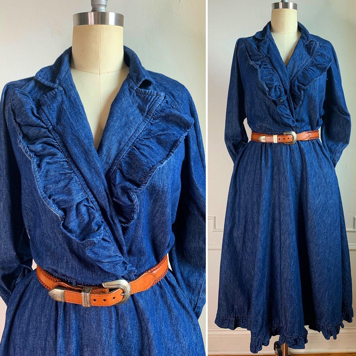 #denimondenim #jeansoutfit #jeans #dress #vintagestyle #vintageclothes