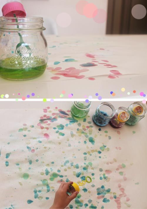 DIY: paint with bubbles « Babyccino Kids: Daily tips, Children's products, Craft ideas, Recipes & More