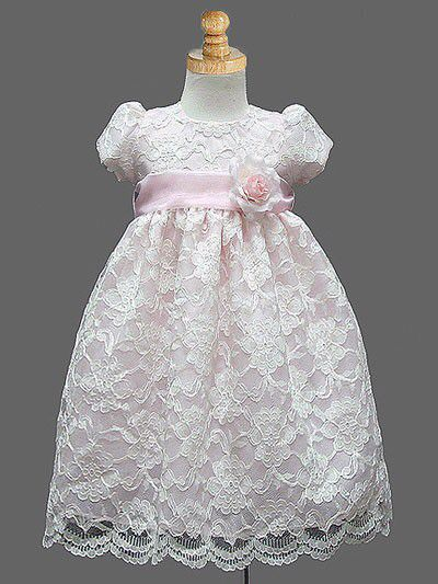Sweet lace dress with organza sash. #justuniqueboutique #flowergirldress…