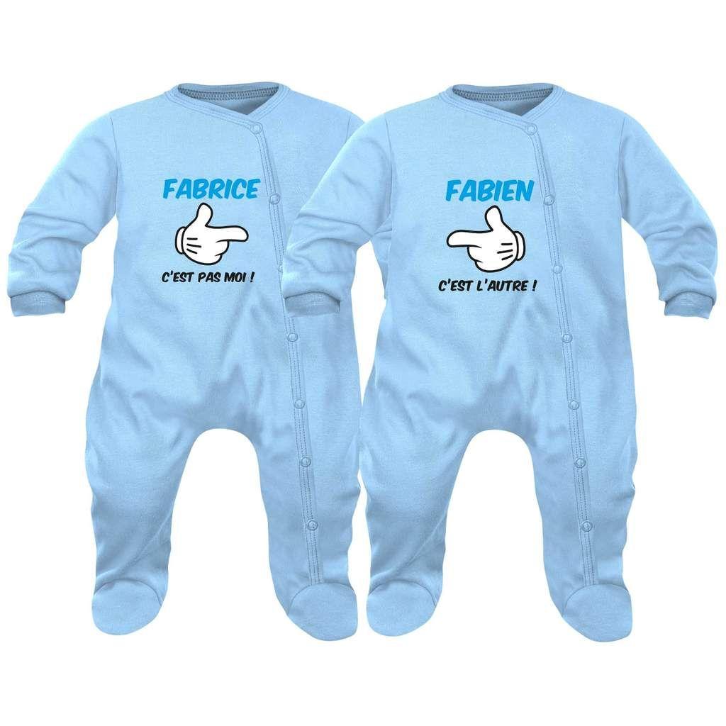2 pyjamas bébé jumeaux et jumelles : LOVE | Baby onesies