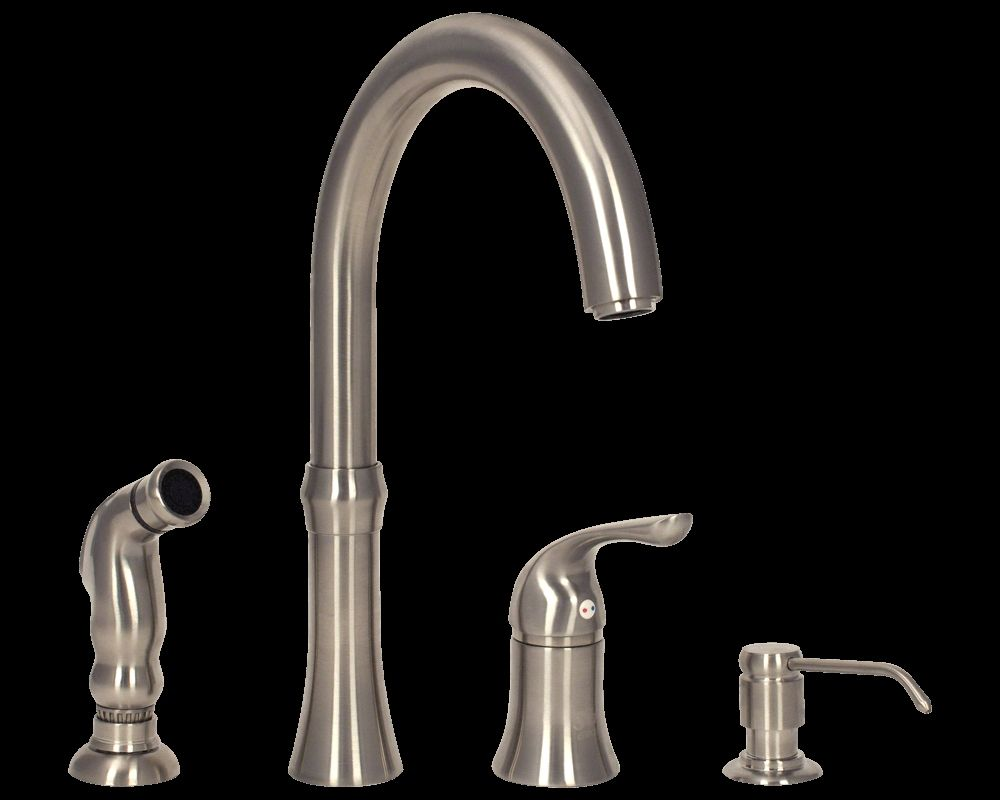 4 Hole Kitchen Faucet Brushed Nickel  Httplatulufeed Captivating 4 Hole Kitchen Faucet Inspiration Design