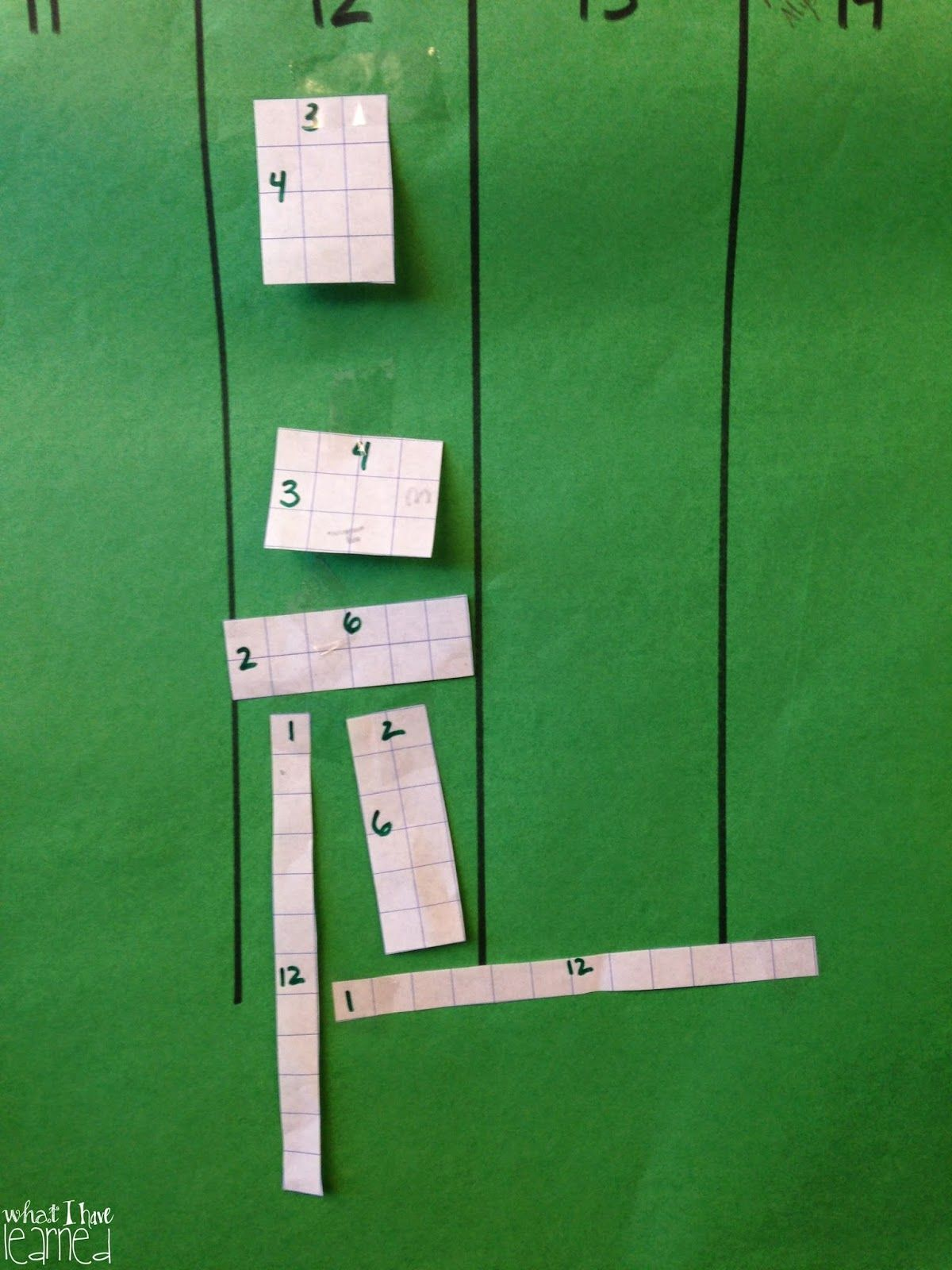 What I Have Learned Multiplication Building Arrays Area