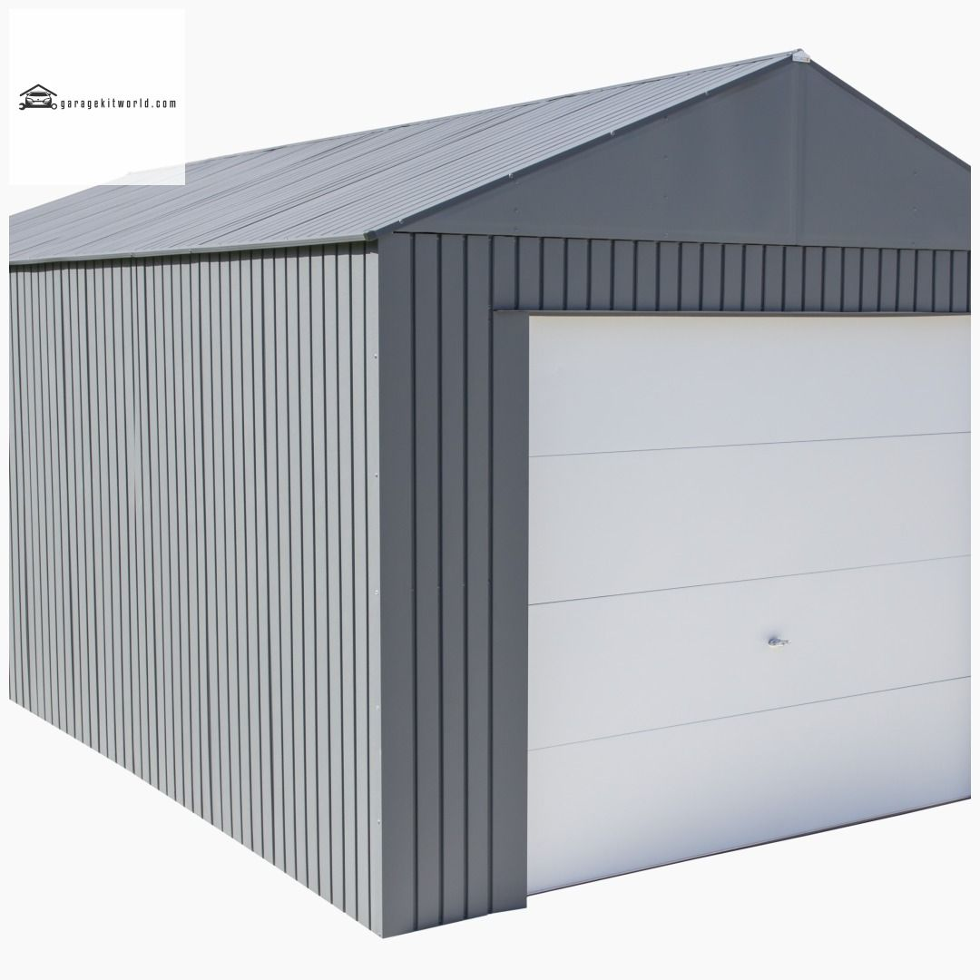 Everest Charcoal 12 X 25 Metal Garage Kit Garage Carportdesign Outbuildings Carport Carportkits Metal Garage Kits Metal Garages Carport Designs