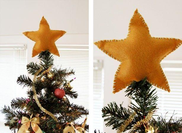 Crafty Christmas Diy Felt Star Tree Topper Earl Grey Creative Christmas Diy Felt Diy Christmas Tree Topper Diy Tree Topper
