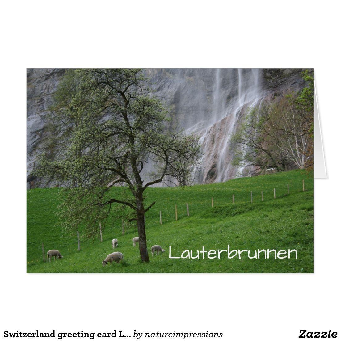 Switzerland greeting card lauterbrunnen waterfall swiss switzerland greeting card lauterbrunnen waterfall kristyandbryce Images