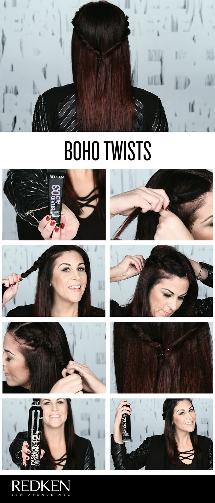 Hair Tutorials Keep Your Hair Off Your Face This Summer With This Simple And Easy Hairstyle In Hair Tutorial Easy Hairstyles Hair Styles