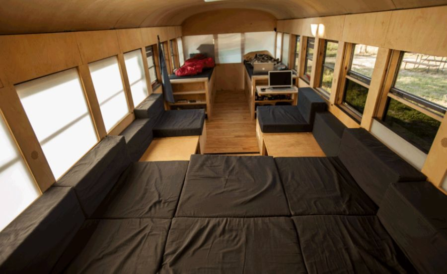 mobile bus home smart renovation wheels in ergonomics and ease rv tiny trailers and bus. Black Bedroom Furniture Sets. Home Design Ideas