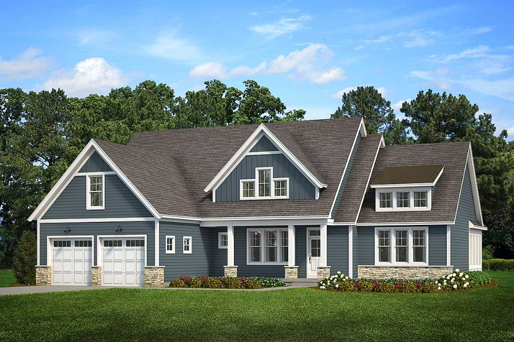 Fabulous Exclusive Cape Cod House Plan with Main Floor Master