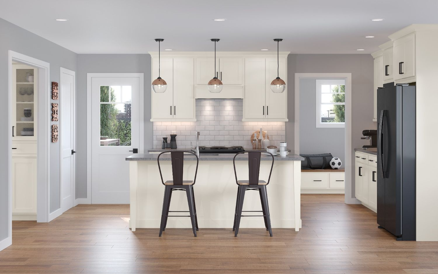 San Mateo Collection American Woodmark In 2020 Modern Kitchen Design American Woodmark Cabinets Semi Custom Kitchen Cabinets