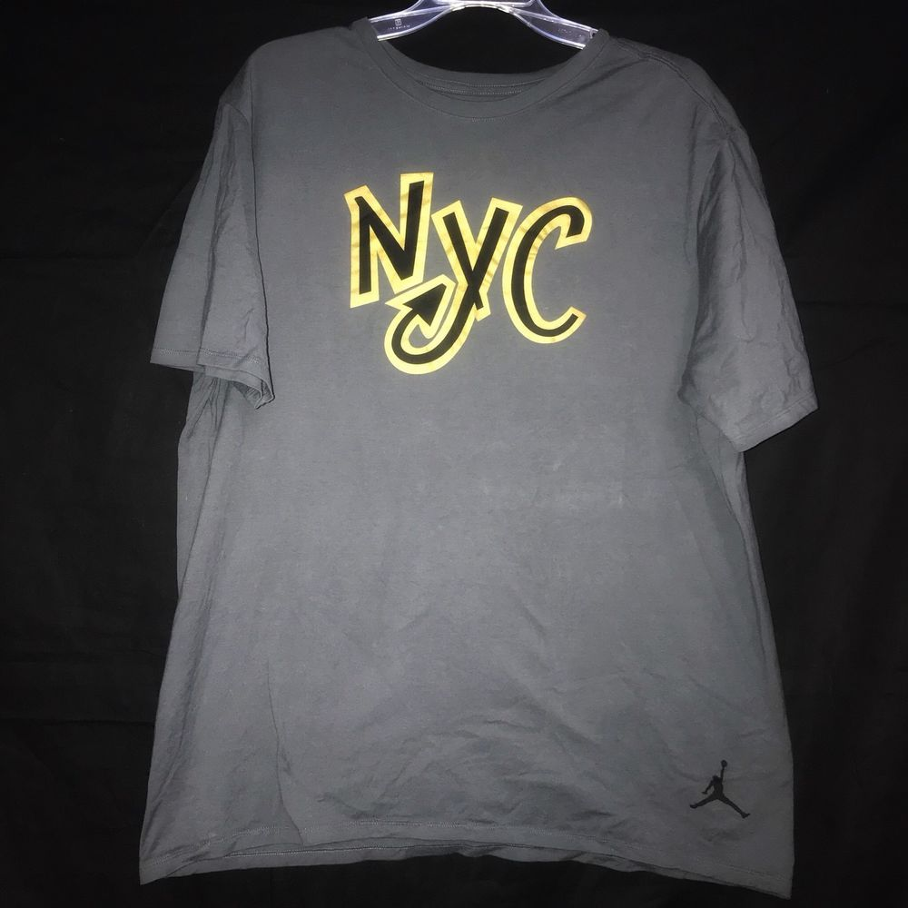 0ce46e2e0462 Nike Air Jordan Michael Jordan Jumpman NYC GRAY T SHIRT MENS XLARGE XL EUC   Jordan  GraphicTee