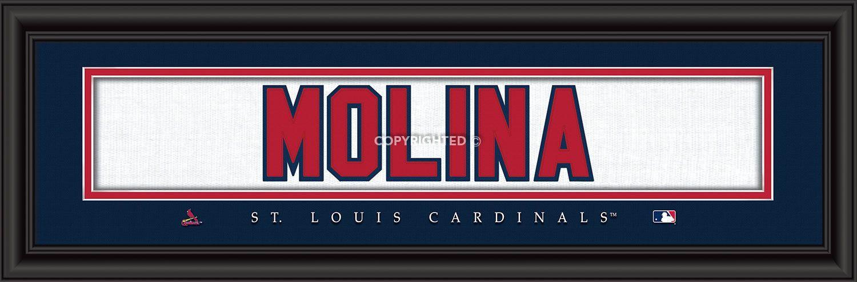 super popular 6d810 bf81d St. Louis Cardinals Yadier Molina Print - Signature 8