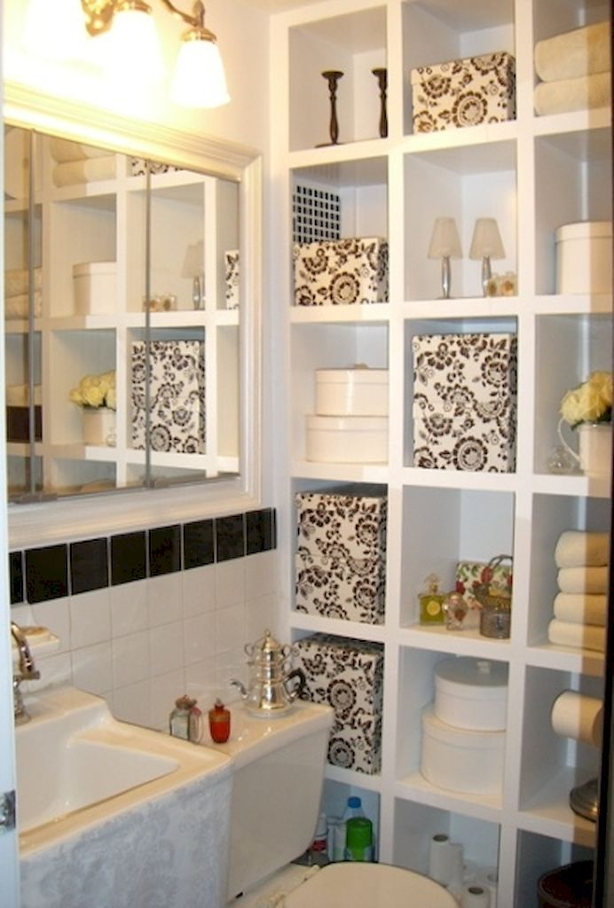 40 Cool Small Bathroom Storage Organization Ideas | Small bathroom ...