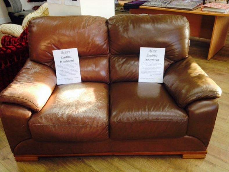 Re Faded Leather Couch With