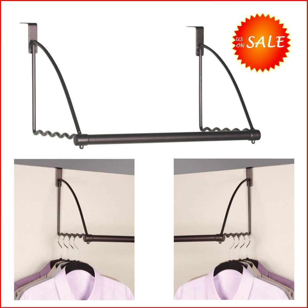 Portable Clothes Rack Over Door Cabinet Closet Valet Suit Dress