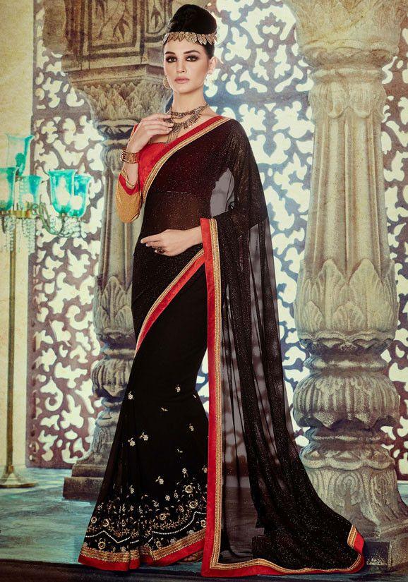 Enigmatic Black Saree