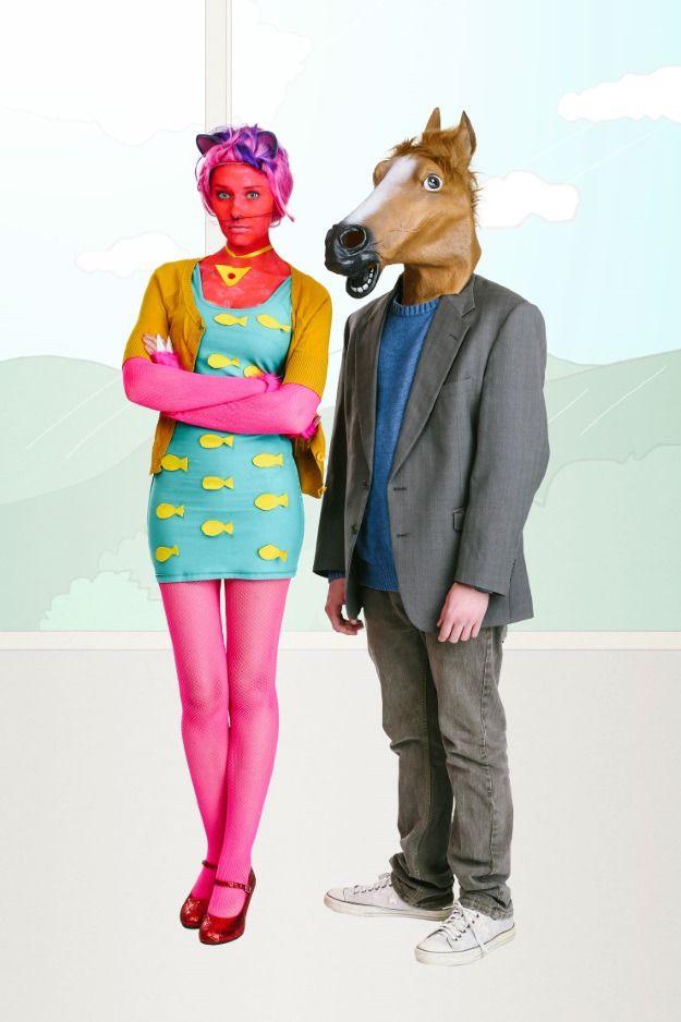 51e5cac6c78 DIY BoJack Horseman and Princess Carolyn Couples Costume