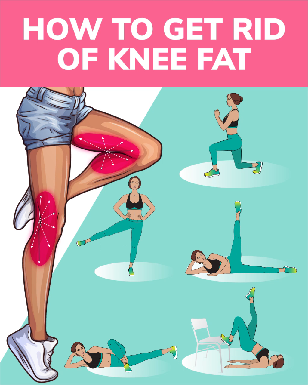 How to Get Rid of Knee Fat with Effective Exercises at Home Want to have sexy slim legs try the workout below The exercises will help to get rid of knee fat and make your...