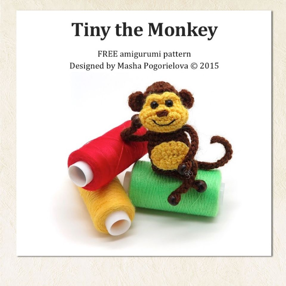 Tiny Monkey free amigurumi crochet toy pattern by mashutkalu . click ...