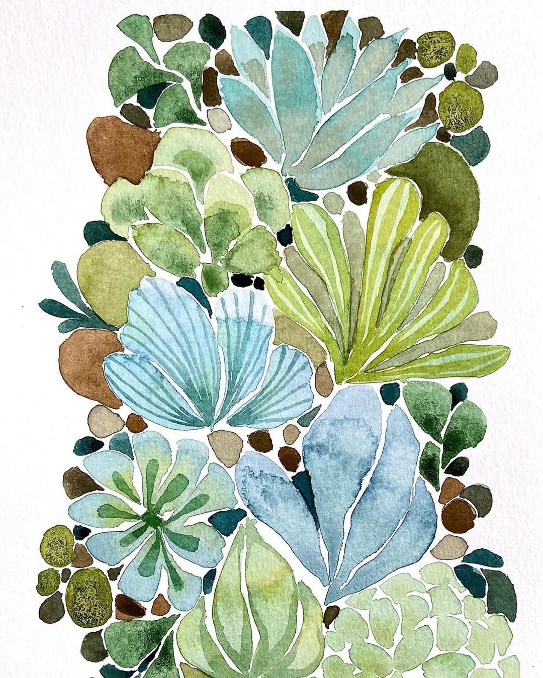 "Vanessa Cline Fuchs on Instagram: ""Succulent rock garden . . #aquarelle #aquarellepainting #aquarelleart #botanicalart #botanicalillustration #botanicalpainting…"" -  Vanessa Cline Fuchs on Instagram: ""Succulent rock garden . . #aquarelle #aquarellepainting #aquarelleart #botanicalart  Source by LITdecor  -"