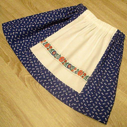 3dfc70a131ab Detská folklórna sukňo-zásterka (Modrá)   Tanja.L
