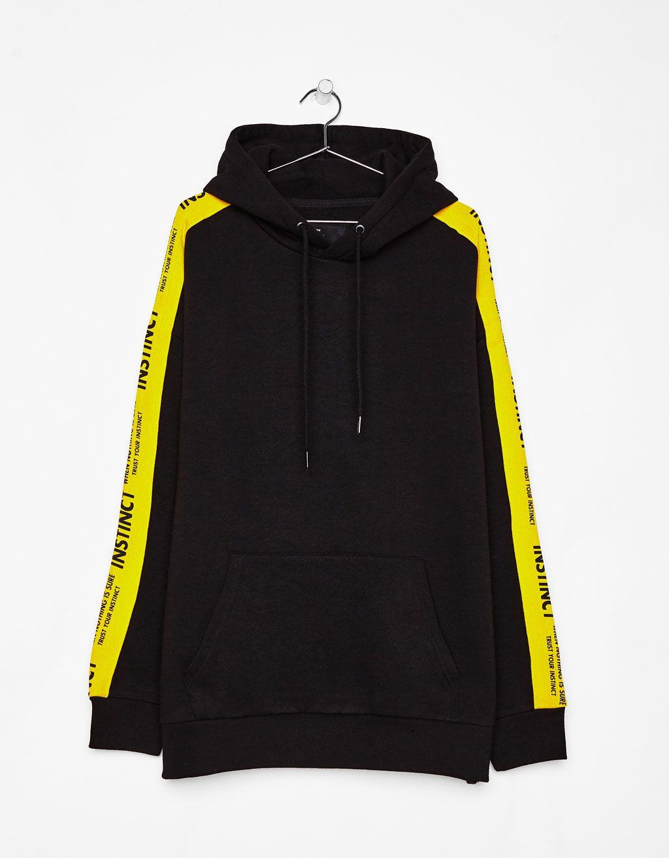 1be0db415 Shakers - Sweatshirt with stripe - Bershka #bershka #sweatshirt ...