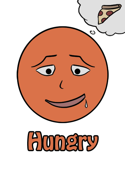 hungry emotion card