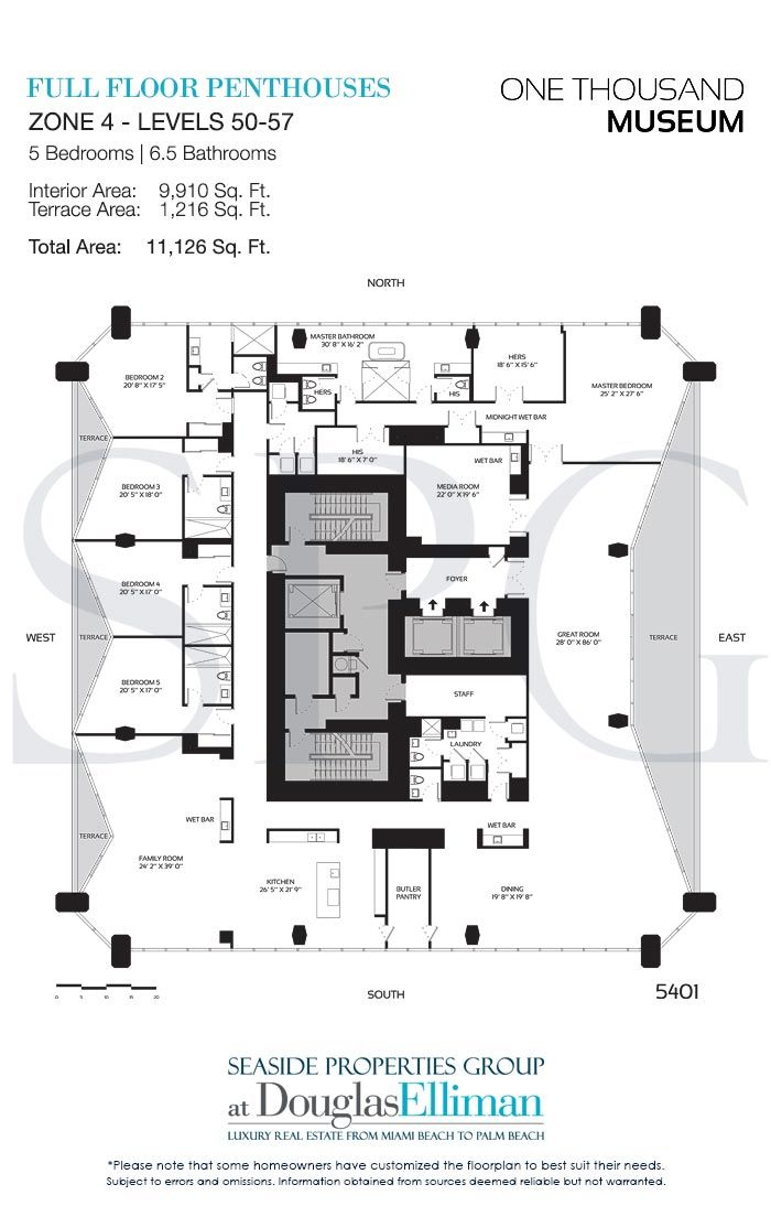 Click To View The Zone 4 Full Floor Penthouse Floorplans Floor Plans Apartment Floor Plans House Floor Plans