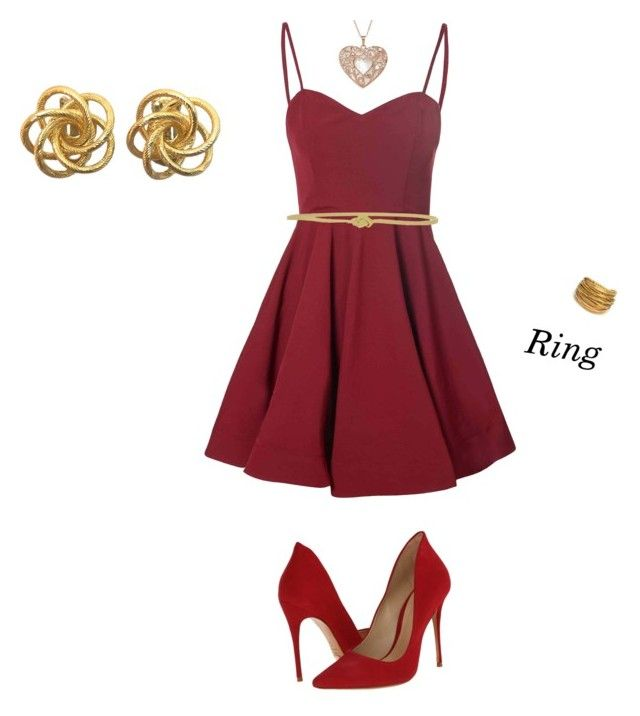 """31.2015"" by paula-drea on Polyvore featuring Glamorous, Schutz, AMANTES AMENTES and Black & Sigi"