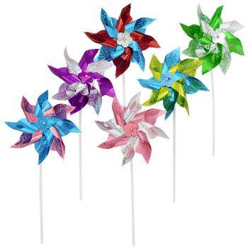 Bulk Springtime Plastic Pinwheels 145 in at DollarTreecom