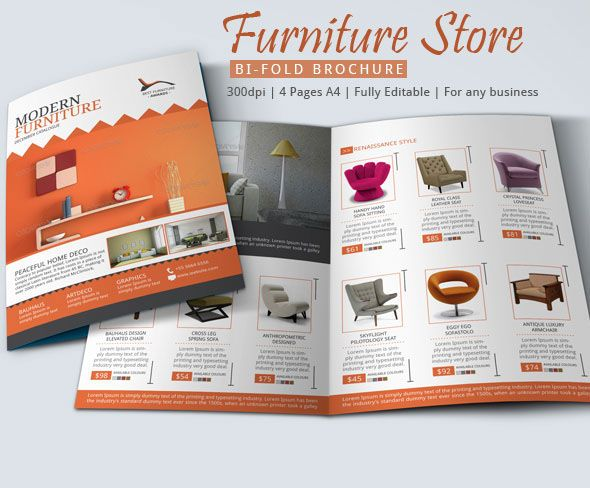 Furniture Store Brochure Design On Behance  BehanceNet
