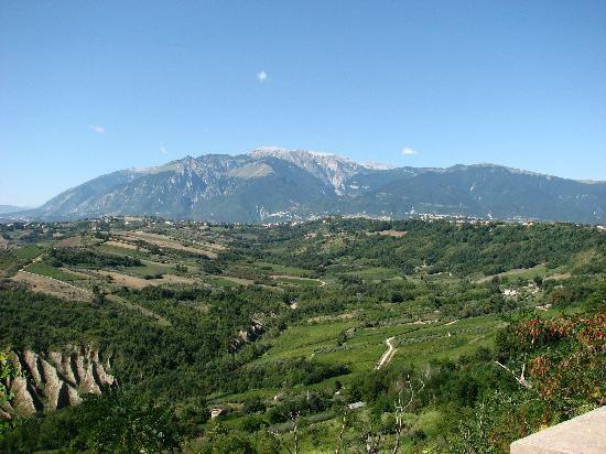 Blick von Vasto ins Landesinnere - che bello!
