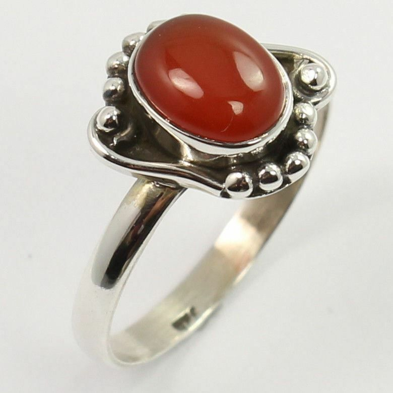 Natural CARNELIAN Gemstone New Fashion Ring Choose All Size 925 Sterling Silver
