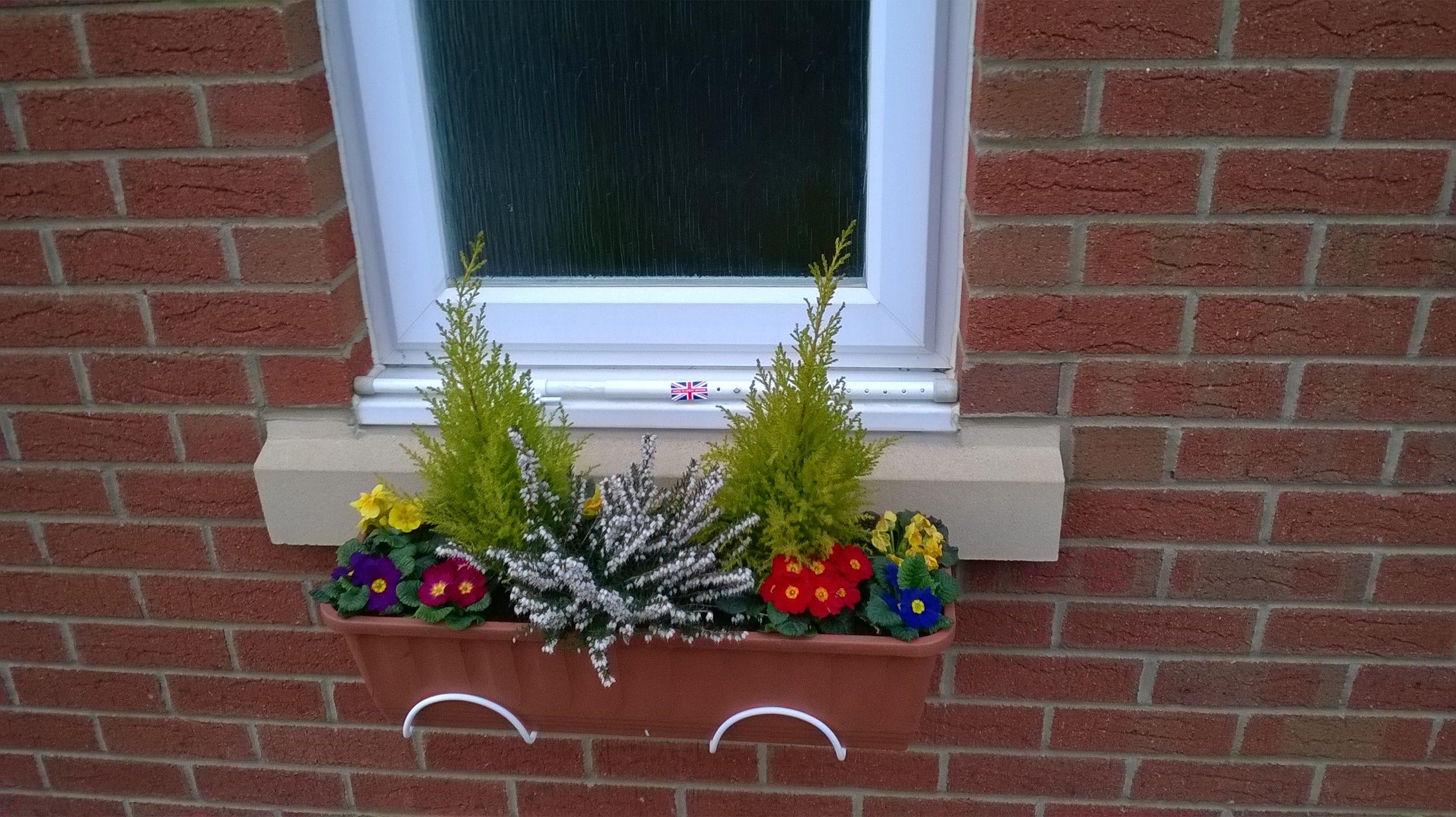 No Drill Window Box Www Ironforplants Co Uk Window Box Window Boxes Decor