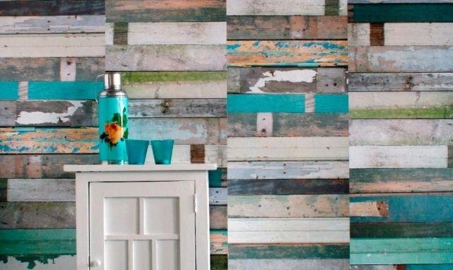 Papier peint chambre d 39 aspect bois 30 id es magnifiques - Tapisserie imitation bois ...