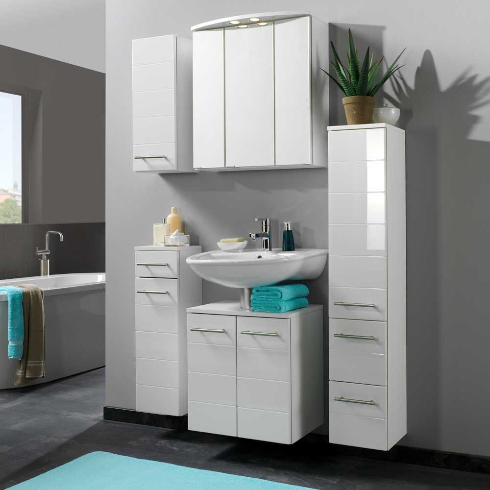 badezimmer set weiß Bathroom tall Wall mounted