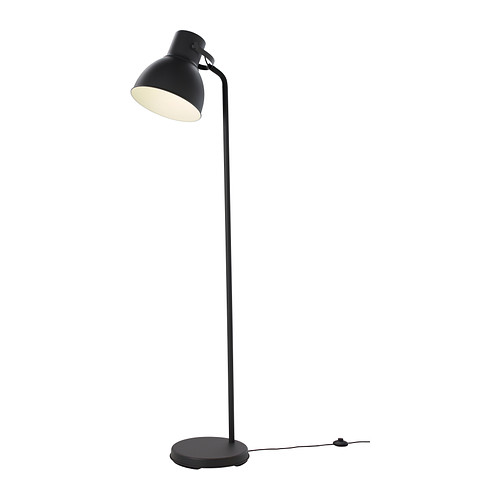 Ikea hektar floor lamp with led bulb the oversized lamp head gives both a good concentrated light for reading and good general light for smaller areas