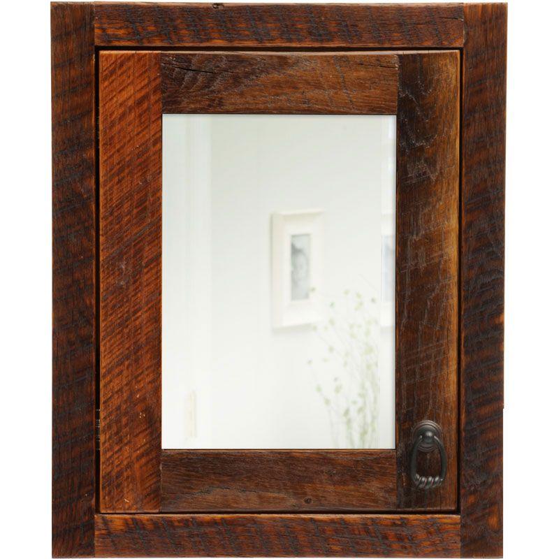 reclaimed wood medicine cabinet  Google Search  Bathroom