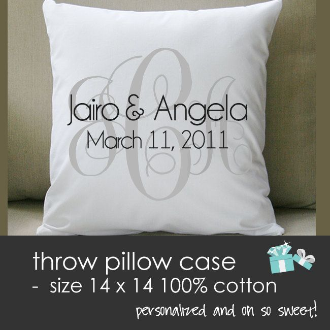 Wedding Night Gift For Wife: THROW Pillow Size 14 X 14